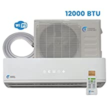 Mini Split Air Conditioner - 12000 BTU - 1 Ton - 25 SEER Inverter with WiFi - Ductless Heat Pump - AC Unit Split System For Heating & Cooling 115V