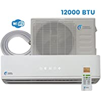 Mini Split Air Conditioner - 12000 BTU - 1 Ton - 25 SEER Inverter with Android WiFi - Ductless Heat Pump - AC Unit Split System For Heating & Cooling 115V