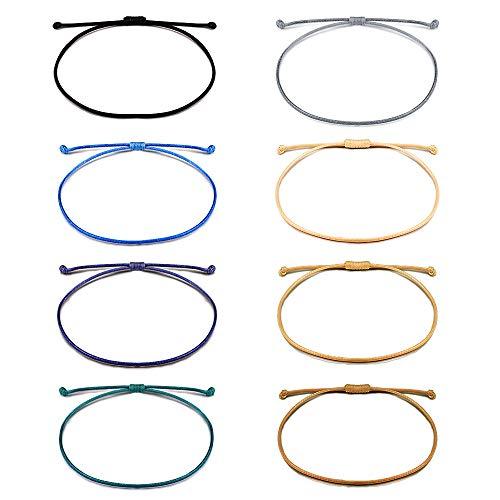 - Shonyin Friendship Handmade String Bracelets Adjustable Waterproof Bracelet for Teen Girls Women Men Unisex 8pcs