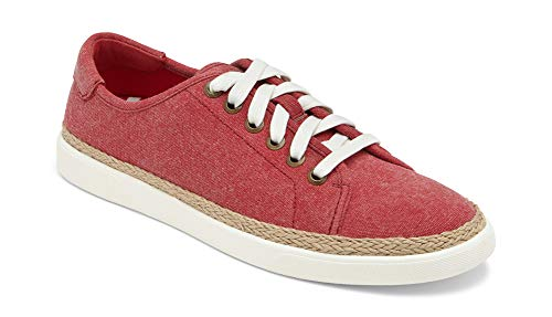 (Vionic Women's Sunny Hattie Lace-up Sneaker - Ladies Sneakers Concealed Orthotic Support Red 6.5 M US)