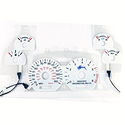 BAR Autotech for Ford Mustang GT 95-98 White face EL Glow Gauge