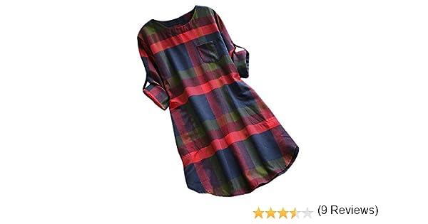 Vestido De Bolsillo A Cuadros Mujervestido Camisero Retro De Manga Larga Moda Otoño E Invierno Camisa Casual Vestido De Gran Tamaño Gusspower