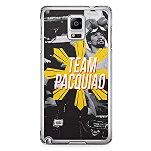 Manny Pacquiao Samsung Note 4 Transparent Edge Case - Team Pacquiao