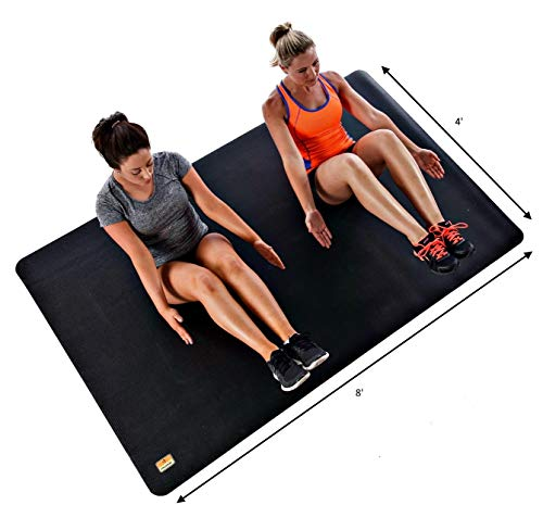 Pogamat Extra Large Workout Mat – Perfect Mats for Home Gyms, Cardio, Exercise, Weight Lifting, Fitness, and More – High…