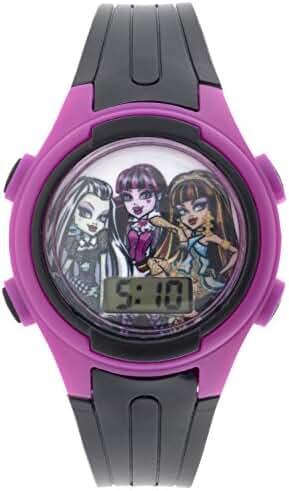 MATTEL Girls Monster High Digital Display Plastic Monster High Black Watch MHKD278CT
