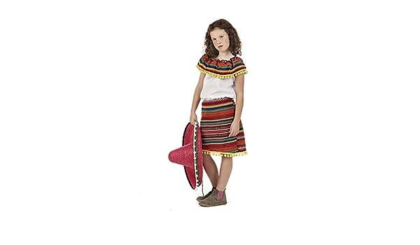 Disfraz de Mejicana Adriana para niña: Amazon.es: Productos para ...