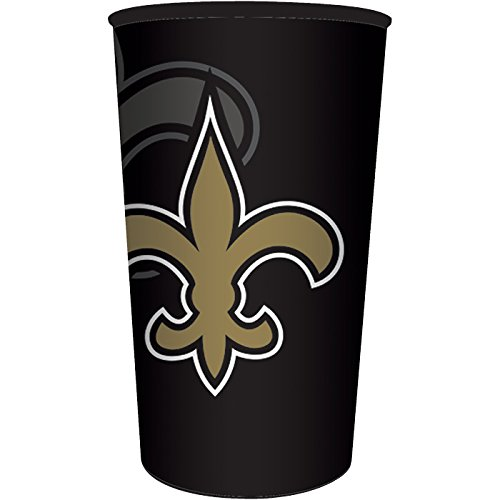 New Orleans Saints 22oz Plastic Favor Cup