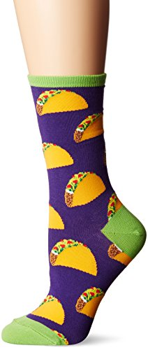 Socksmith Women's Crew Socks (1 Pack, Hard Shell Tacos)