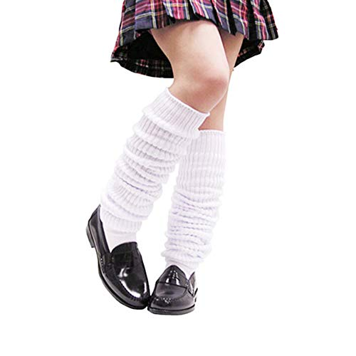 Women's Long Heavy Slouch Socks Scrunch Cotton Socks Extra Knit Loose Socks White]()