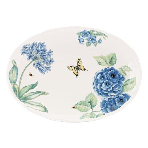 Lenox Butterfly Meadow Blue Large Oval Platter (Blue Large Oval Platter)