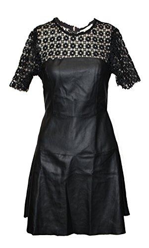 Robe courte de soirée imitation cuir