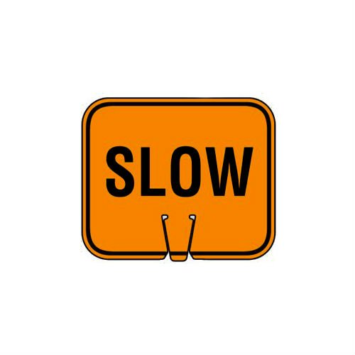 Mutual Industries 17729-0-1 Traffic Cone - Slow Cone Sign, 13