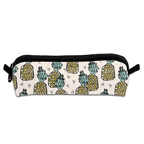 - Pencil Case Pineapple Pineapples Sweet Summer Fruits Tropical Pineapple Sweet Geo Geomtric Tropical Design_169 Unisex Student Zipper Polyester Pen Box Stationery Bag Lightweight Storage Bags