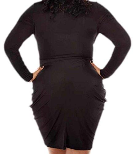 erdbeerloft - Damen Kleid Grosse Grössen Big Size, 44-52, Schwarz