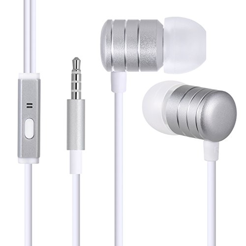 Wired Headphones, In-Ear Earbuds,Noise Cancelling,Stereo Sound with Built-in Mic for iPhone 6/6s Plus/5s/SE, iPad/iPod,Android smartphones,Tablets,and other devices with 3.5mm audio port