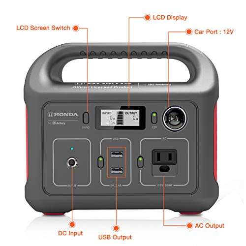 Honda by Jackery HLS 290 Portable Lithium Battery Mobile Power Station, Emergency Power Pack and External Battery Charger, Gas-Free Generator Alternative, Honda Official Licensed Product by Jackery by Jackery (Image #4)
