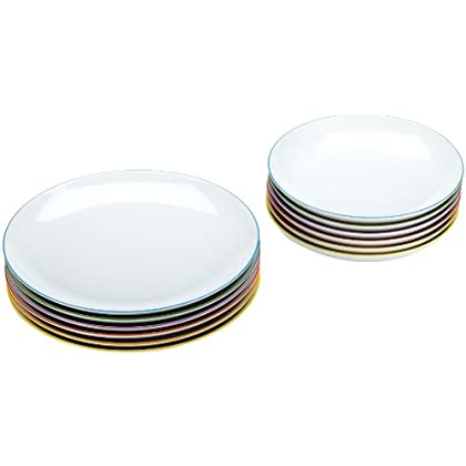 Image of Arzberg Cucina Colori 2100/70657/3618 12-Piece Dinner Service Porcelain in Red Gift Box Dinner Plates