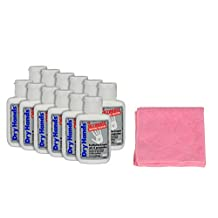 Dry Hands 1oz Ultimate Gripping Solution and 1 Pink Microfiber Cloth Bundle