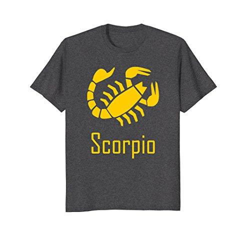 Scorpion Symbol - Mens Scorpio Zodiac Birthday Symbol T-Shirt Large Dark Heather