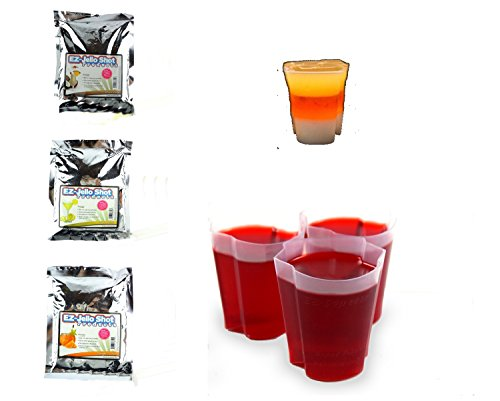 EZ Squeeze Halloween Candy Corn Mix and 50 Shot Cup Holiday (Halloween Drinks Tipsy Bartender)