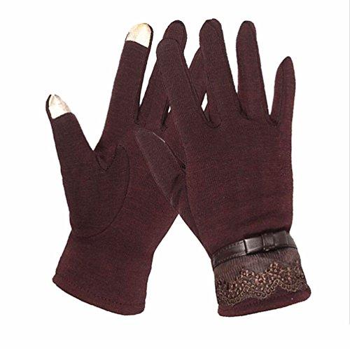 編みストレッチ春冬のタッチスクリーンスプリングライド手袋冬のコットン女性のための暖かい