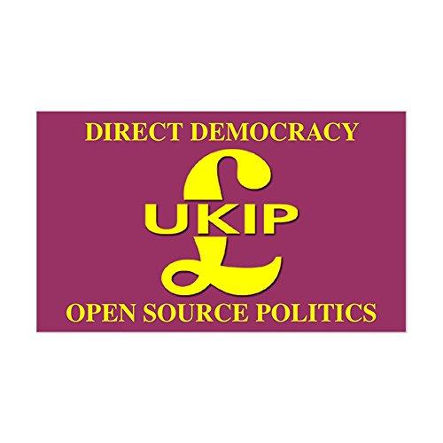 CafePress UKIP Direct Democracy Rectangle Sticker Rectangle Bumper Sticker Car Decal