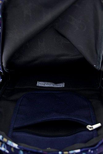 Zeckos , Damen Rucksackhandtasche blau blau