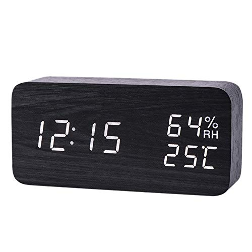SovelyBoFan Moderno Reloj Alarma Led Humedad Temperatura ...