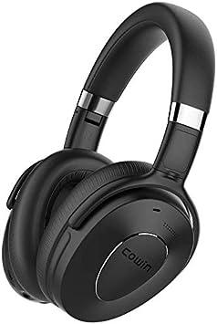 Cowin SE8 Auriculares con cancelación Activa de Ruido Auriculares Bluetooth inalámbricos sobre la Oreja con micrófono/Aptx, cómodas Almohadillas, 30H Juego para Viajes/Trabajo - Negro