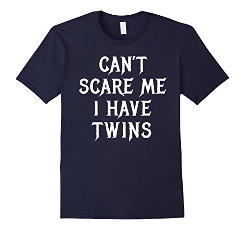 Twin Toddler Halloween Costumes (Mens Funny Mom Dad of Twins Halloween Shirt Gift for Husband Large Navy)
