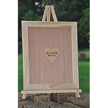 Amazon.com: 14x18 Custom Frame and Heart Alternative Wedding Guest ...
