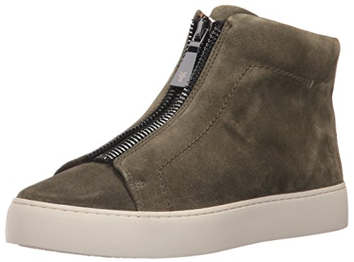 Oiled Women's Fashion Forest Lena High Frye Zip Suede Soft Sneaker Ipqd6wI7x8