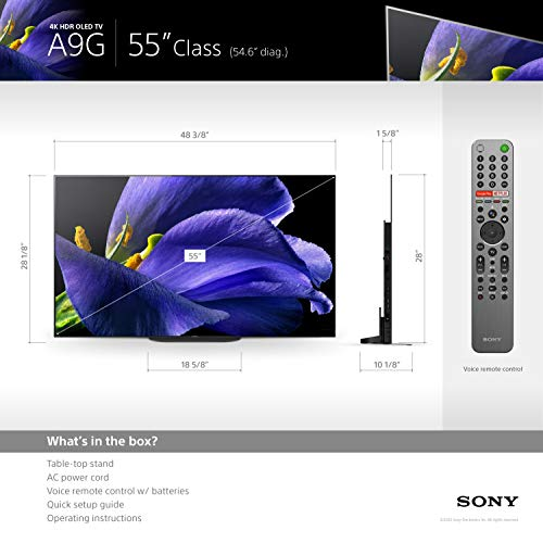 "Sony XBR-55A9G 55"" (3840 x 2160) Bravia 4K Ultra High Definition Smart OLED TV"