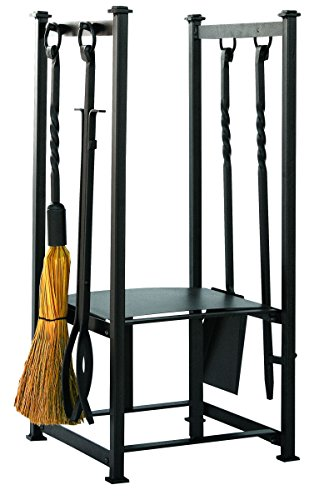UniFlame Olde World Iron Log Rack with Tools (Log World Holder)