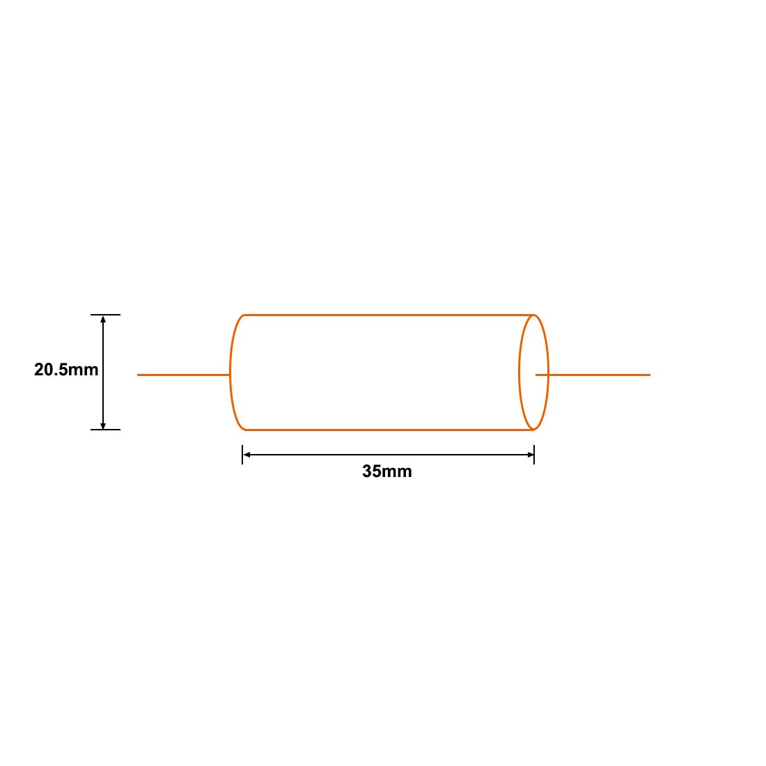uxcell Film Capacitor 250V DC 5.6uF Round Axial Polypropylene Film Capacitor for Audio Divider Yellow