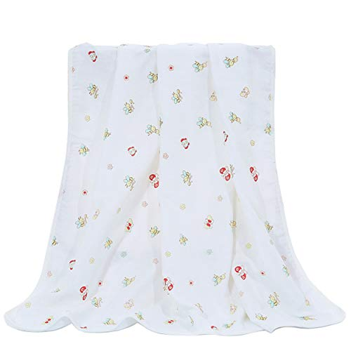GladThink Muslim Baby Swaddle Blanket Soft Muslin Cotton Infant Wrap Blankets 39 X 39'' by GladThink