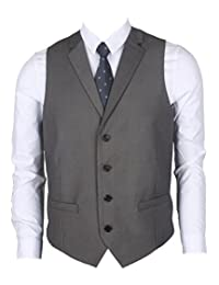 Ruth&Boaz Men's 2Pockets 4Buttons Business Tailored Collar Suit Vest