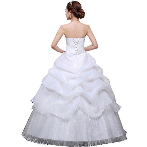 Shanghai Story Scalloped Neckline Ruffle Lace Up Wedding Dress Customize