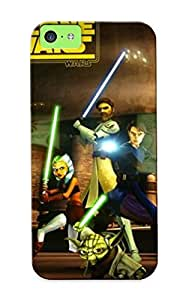 FnFIMFz2329xoNIO Tpu Case Skin Protector For Iphone 5c Tar War The Clone War Online With Nice Appearance For Lovers Gifts