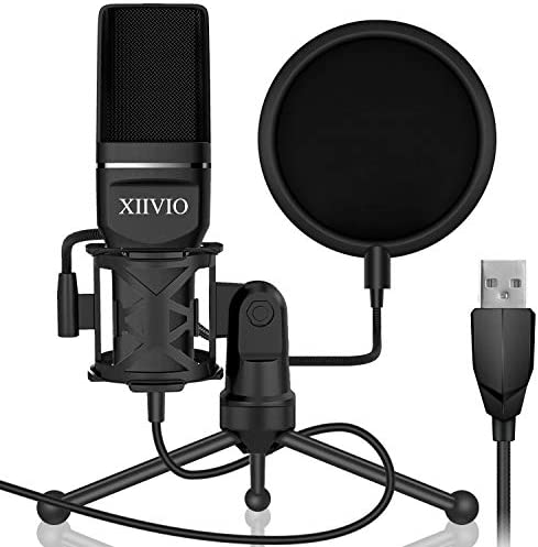 USB Gaming Condenser Microphone,XIIVIO P