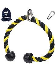 XYZDOUBLE Tricepsstouw touw nylon 70/90 cm biceps triceps touw fitness kabelgreep met antislip dubbele handgreep voor workout fitness