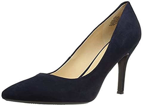 Nine West Women's FIFTH9X Fifth Pointy Toe Pumps, Navy Suede - 6.5 B(M) US - Blue Suede Pump Shoes