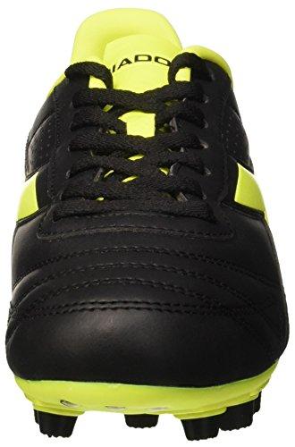 Diadora Brasil R Mdpu, Botas de Fútbol para Hombre Nero (Nero/Giallo Fluo Diadora)