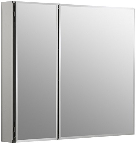 - KOHLER K-CB-CLC3026FS Frameless Double Door 30 inch x 26 inch Aluminum Bathroom Medicine Cabinet; Recess or Surface Mount