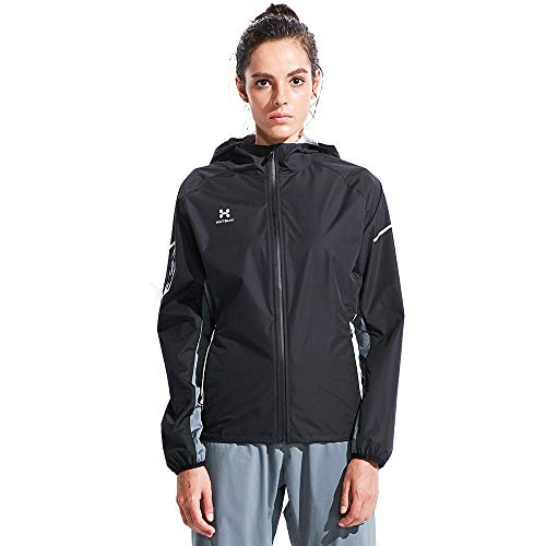 Jacket Winter Training (HOTSUIT Sauna Suit for Weight Loss Women's Sauna Jackets Tops (Black, Medium))
