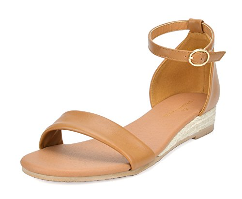 - DREAM PAIRS Formosa_10 Women's Ankle Strap Low Wedge Sandal