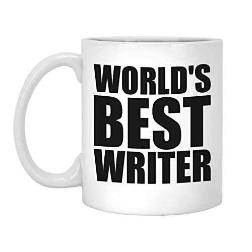 Writer Gift - World's Best Writer - 11oz White Coffee Mug (Worlds Best Writer)