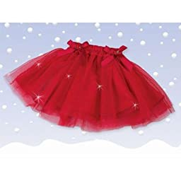 Bearington Sparkling Red Christmas Tutu (6-12 Months)