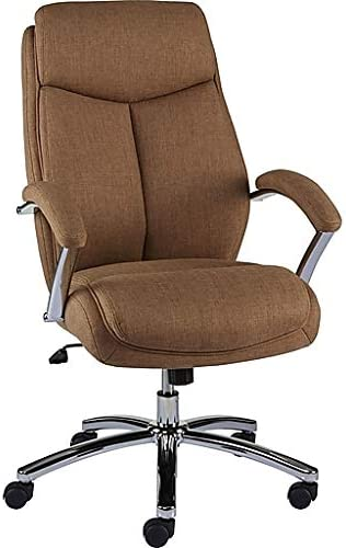 Amazon Com Staples Fayston Fabric Home Office Chair Tan Brown Home Kitchen