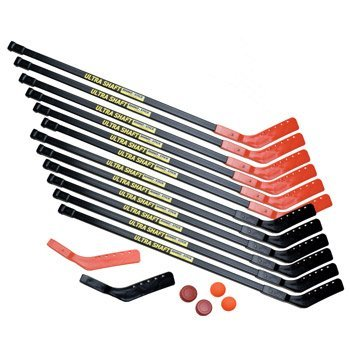 Champion Sports Ultra Shaft Hockey Set (Black/Red, 47-Inch)